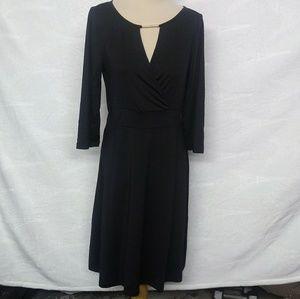 Avon Keyhole Flounce Party Dress